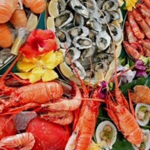 Морепродукты, креветки, крабы