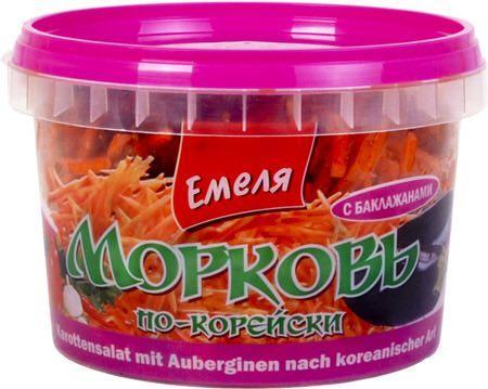 Морковь по-корейски с баклажанами