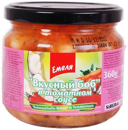 Вкусный Боб в томатном соусе