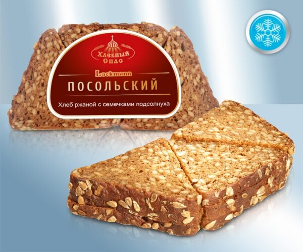 Хлеб ржаной с семечками подсолнуха