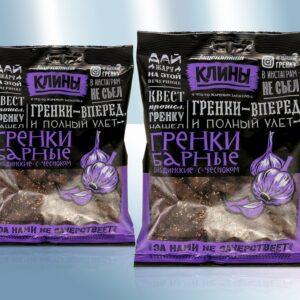 Сухарики бородинские с чесноком